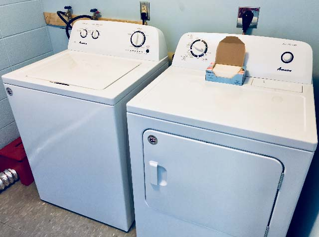 Provided and installed a washer and dryer for the clothing bank at the Dream Center