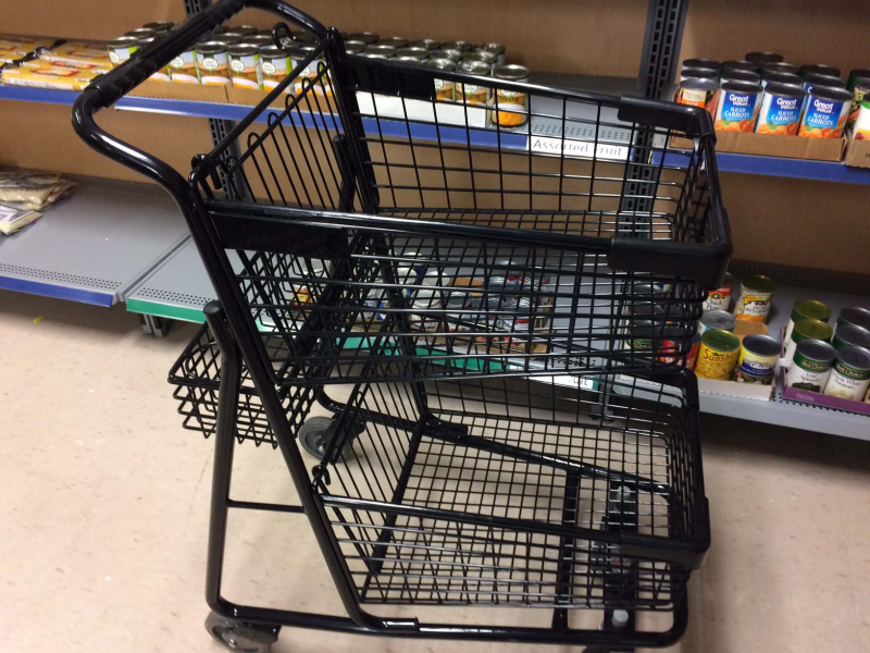 Provided 4 shopping carts for the food pantry at the Dream Center